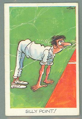 1972 Sunicrust Cricket - Comedy Cricket, Silly Point trade card