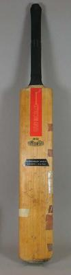 Autographed, inscribed cricket bat used by Mike Brearley in 1976-77