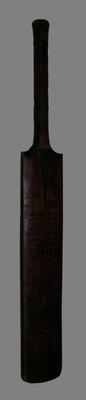 Inscribed Cricket bat used by Monty Noble in 1907