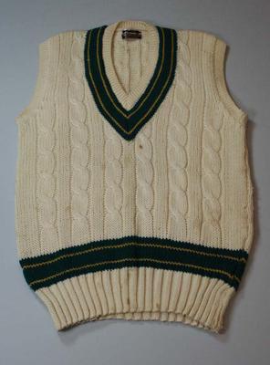 Vest worn by Greg Chappell, circa 1982