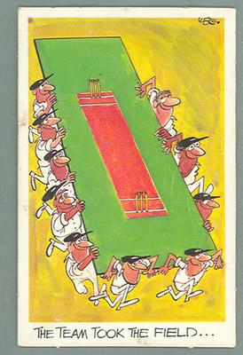 1972 Sunicrust Cricket - Comedy Cricket, The Team Took the Field trade card