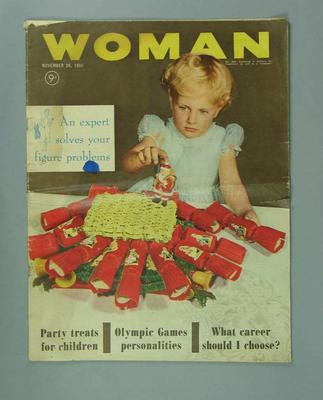 "Magazine, ""Woman"" 26 Nov 1956; Documents and books; 1999.3590.1"
