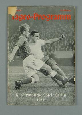 Programme for 1936 Berlin Olympic Games events, 11 August