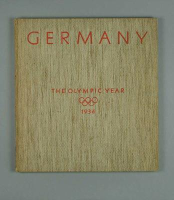 """Book, """"Germany - The Olympic Year 1936"""""""