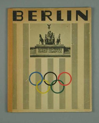 """Book, """"Berlin"""" c1936"""