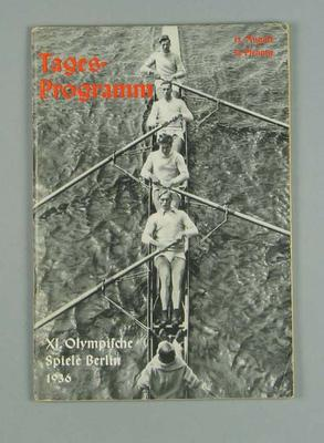 Programme for 1936 Berlin Olympic Games events, 13 August