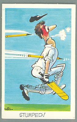1972 Sunicrust Cricket - Comedy Cricket, Stumped trade card
