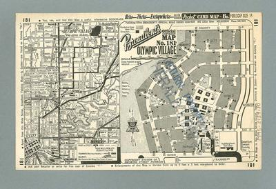Map, 1956 Olympic Games Village