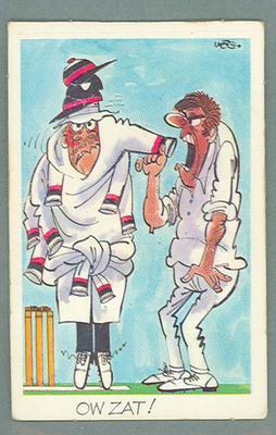 1972 Sunicrust Cricket - Comedy Cricket, Ow Zat trade card