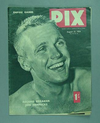 "Magazine, ""PIX"" - vol 34 no 11, 21 August 1954"