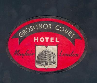Sticker - Grosvenor Court Hotel, Mayfair, London