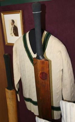 Jumper worn by Don Bradman