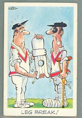 1972 Sunicrust Cricket - Comedy Cricket, Leg Break trade card