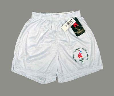 Shorts, issued to 1996 Atlanta Olympic Games torch relay runners
