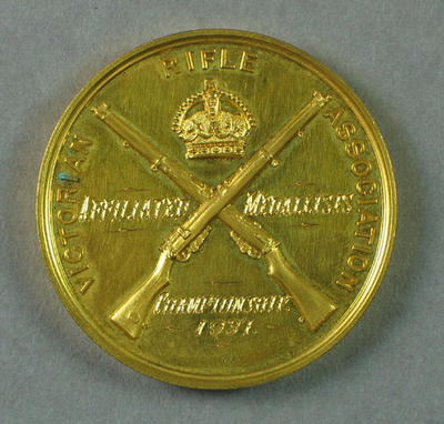 Medal - Victorian Rifle Association Affiliated Medallists Championships 1937 won by P.A. Pavey