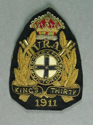 Bullion badge, VRA King's Thirty 1911
