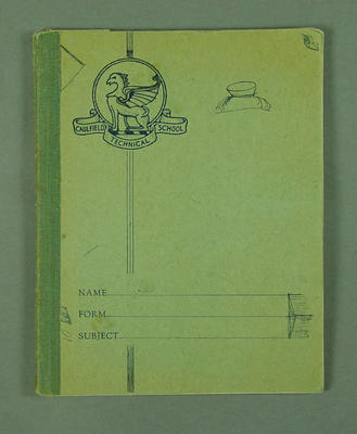 Exercise book compiled by Winsome Cripps, contains handwritten notes on diet and training - c1952