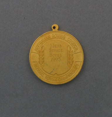 Medal, Australian Rowing Council National Men's Single Scull Champion 1993