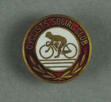 Cyclist Social Club badge collected by Rupert Bates