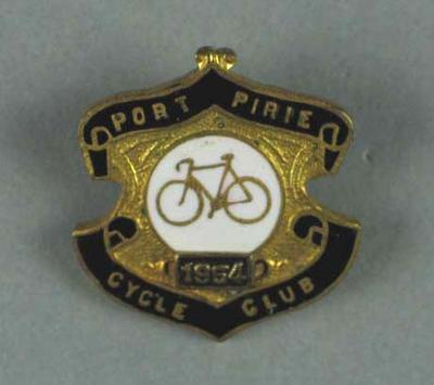 Port Pirie Cycle Club badge 1954 collected by Rupert Bates
