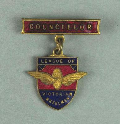 Badge, League of Victorian Wheelmen - Councillor