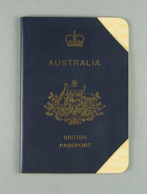 British passport issued to Rupert Bates on 7 August 1964
