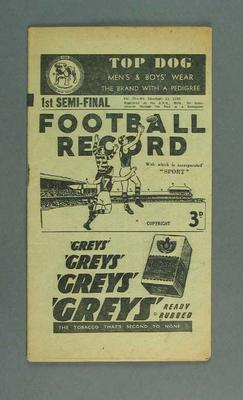 Booklet - 'The Football Record' Vol 35, No. 24, 11 September 1948