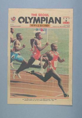 "Newspaper, ""The Seoul Olympian"" 25 September 1988"