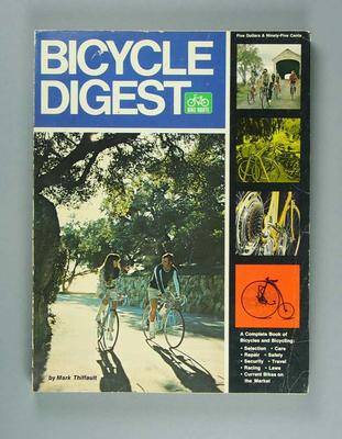 """Soft cover book - """"Bicycle Digest"""" -  published in 1973"""