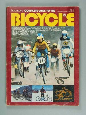 Soft cover book  - 'Petersen's Complete Guide to the Bicycle' - published in 1975.