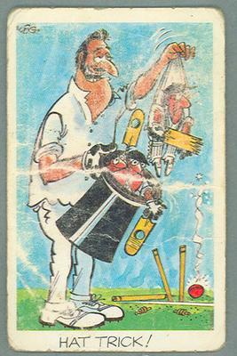 1972 Sunicrust Cricket - Comedy Cricket, Hat Trick trade card