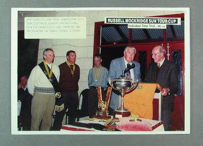 Photograph of 1992 Russell Mockridge Sun Tour Cup medal winners