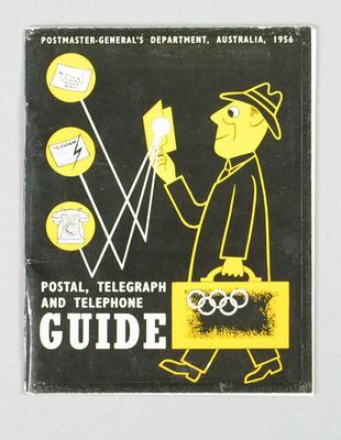 "Booklet, ""Postmaster-General's Postal, Telegraph and Telephone Guide 1956"""
