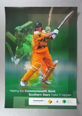 """Poster, """"Commonwealth Bank Southern Stars"""" c1999"""