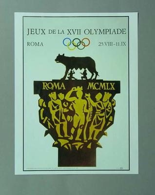 Poster, 1960 Rome Olympic Games