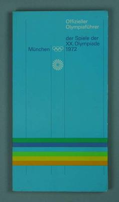 Guide book, 1972 Munich Olympic Games