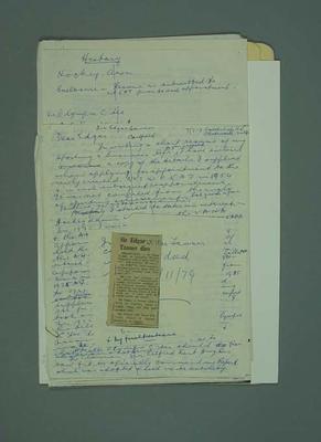 Correspondence between George Moir and Edgar Tanner, c1950s-70s