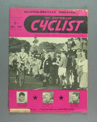 "Magazine, ""The Australian Cyclist"" July 1960"
