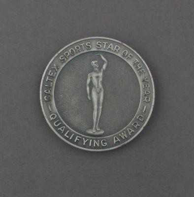 Medallion, Caltex Sports Star of the Year nomination 1977 - Peter Antonie