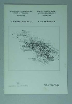 Booklet, detailing development of 1992 Olympic Village in Barcelona