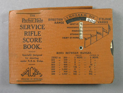Book - 'The Parker-Hale Service Rifle Score Book' used by P.A. Pavey