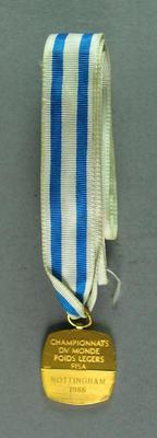 Medal, FISA Championships 1986 Nottingham