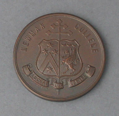 Medal awarded to Peter Antonie, Newman College Rowing Half Blue - 1976