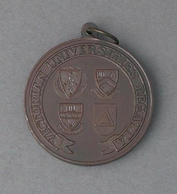 Medal awarded to Peter Antonie, Victorian Universities Regatta