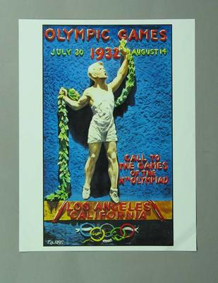 Poster, 1932 Los Angeles Olympic Games