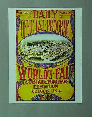 Poster, 1904 St Louis Olympic Games