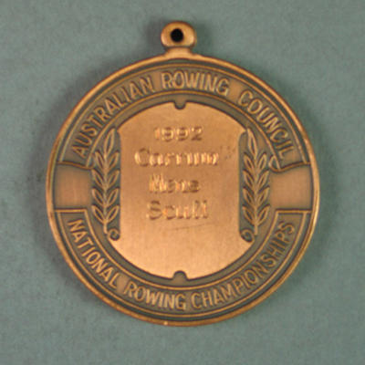 Medal, Australian Rowing Council Championships Men's Scull 1992