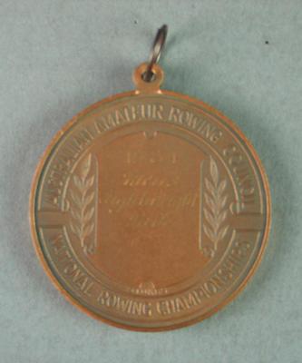 Medal, Australian Amateur Rowing Council Championships Men's Lightweight Pair 1984