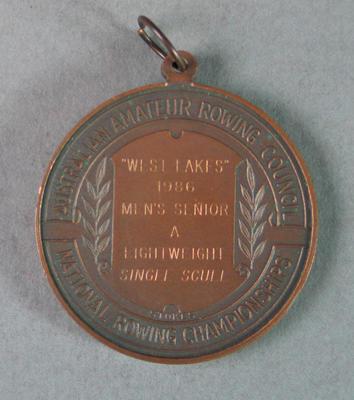Medal, Australian Amateur Rowing Council Championships Men's Lightweight Single 1986