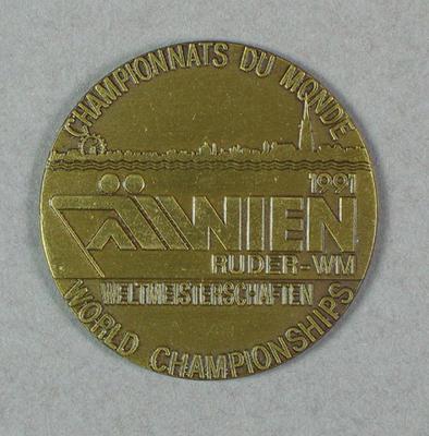 Medal, Champion Du Monde Wien 1991